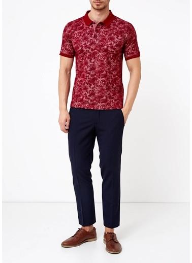 Adze Polo Yaka Tişört Bordo